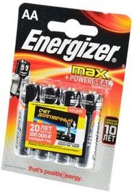 Фото 1/3 Energizer MAX LR6 BL4, Элемент питания