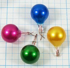 Лампа накаливания в форме капли красного цвета 2.5В, 0.2Вт Л 2,5В\2LW\ 0,2Вт\кр\\15x22\ЛН\\капля