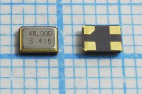 кварцевый резонатор 48МГц в корпусе SMD 3.2x2.5мм, нагрузка 12пФ, 48000 \SMD03225C4\12\ 30\ 30/-20~70C\SX-32\1Г