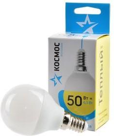 Фото 1/2 КОСМОС ЭКОНОМИК/BASIC LED6.5wGL45E1430 6.5Вт E14 3000K BL1, Лампа светодиодная