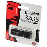KINGSTON USB 3.1/3.0/2.0 32GB DataTraveler 100 G3 черный ...