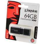 KINGSTON USB 3.1/3.0/2.0 64GB DataTraveler 100 G3 черный ...