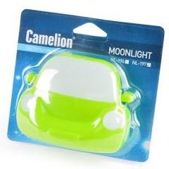 """Camelion NL-197 """"Машинка"""" зеленая, ночник с выключателем , 4LED BL1, Светильник"""
