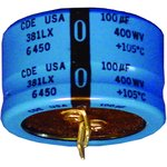 381LX221M200H012, ALUMINUM ELECTROLYTIC CAPACITOR 220UF, 200V, 20%, SNAP-IN
