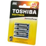 TOSHIBA HIGH POWER LR03GCP BP-4 LR03 BL4, Элемент питания