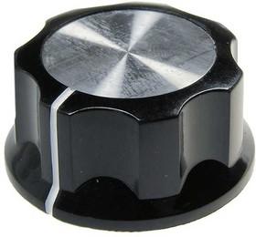 41009-4, D29.4мм, отв. 6мм, Ручка пластмассовая (метал. вставка)