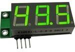 SAH0012UG-50, Цифровой встраиваемый амперметр (до 50А) постоянного тока (без шунта, ультра яркий зеленый индикатор