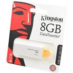 KINGSTON USB 3.1/3.0/2.0 8GB DataTraveler G4 белый с желтым ...