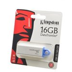 KINGSTON USB 3.1/3.0/2.0 16GB DataTraveler G4 белый c синим ...
