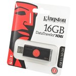 KINGSTON USB 3.1/3.0/2.0 16GB DataTraveler DT106 черный с ...
