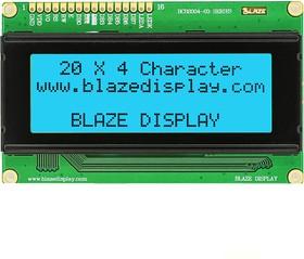 BCB2004-03LB, ЖКИ 20х4 символьный англо-русский с подсветкой голубой