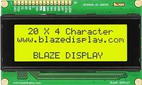 BCB2004-03LY, ЖКИ 20х4 символьный англо-русский с подсветкой желто-зеленый