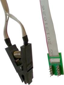 Фото 1/3 DIP8-SOIC8 TEST CLIP, Адаптер для внутрисхемного программирования микросхем памяти и микроконтроллеров в корпусе SOIC-8