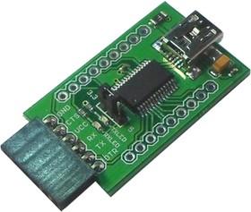 Фото 1/2 SERIAL USB CONVERTER FT232 V2, Преобразователь из USB в UART, на базе FT232RL