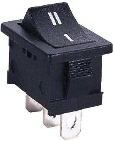MRS-102-2C7 (MRS-101 на корпусе), Переключатель черный ON-ON (3A 250VAC) SPDT 3P