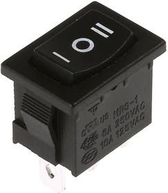 MRS-123A-2C6, Переключатель черный (ON)-OFF-(ON) (6A 250VAC) SPDT 3P
