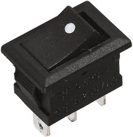 SMRS-102-1C2-B/B (SWR-82), Переключатель ON-ON (1A 250VAC) SPDT 3P, черный корпус/черная клавиша