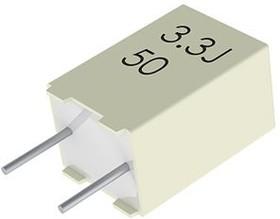 R82CC4220Z370K, Cap Film 2.2uF 50V PET 10% (7.2 X 6 X 11mm) Radial Stacked 5mm 105°C Automotive Bulk