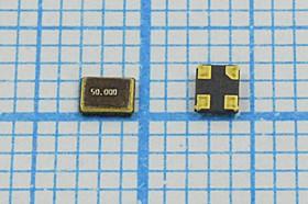 кварцевый резонатор 50МГц в корпусе SMD 2.5x2мм, 1-ая гармоника, 50000 \SMD02520C4\ 8\ 10\ 30/-40~85C\S2520\1Г