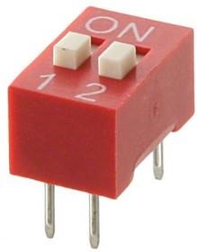 DS1040-02RN, DIP переключатель 2pin красный