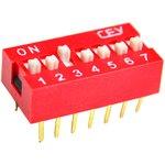 DS1040-07RN, DIP переключатель 7pin красный