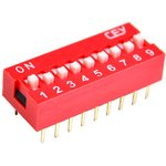 DS1040-09RN, DIP переключатель 9pin