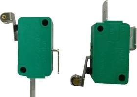 MSW-03A-20-12S, Микропереключатель ON-(OFF) с роликом 12мм (16A 125/250VAC) SPDT 3P