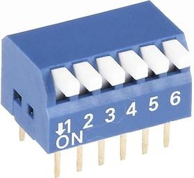 Фото 1/2 SWD3-6 (ВДМ1-6), Переключатель DIP угловой, 6 контактных групп