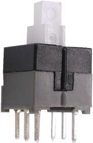 Фото 1/3 KLS7-P8.5x8.5-1 (PB22E09), Кнопка миниатюрная с фиксацией 8.5мм (30В 0.3А)