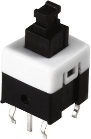 Фото 1/2 PB-22E78 (B170G), Кнопка миниатюрная с фиксацией, 8х8 мм (0.1A 30VDC)