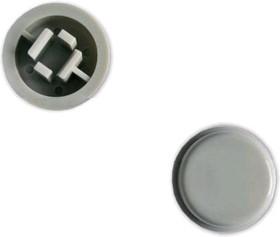 Фото 1/2 SWT-9R-G, Колпачок круглый для тактовой кнопки, серый