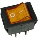 IRS-202-2B3 (желтый), Переключатель с подсветкой ON-ON (15A 250VAC) DPDT 6P