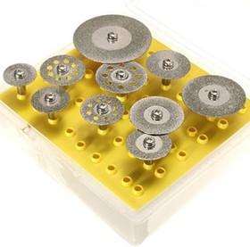 Фото 1/3 Диски с алмазным покрытием (10шт + держатели), Набор