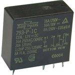 793P-1С-(C) 12VDC(HS), Реле 1пер. 12B/16A, 250V