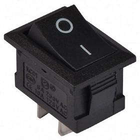KCD1-1 Выключатель 2-позиционный 2-контактный 220В черный