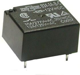 834-1A-B-C 05VDC, Реле 1зам. 5В / 10A, 277V (OBSOLETE)