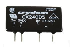 Фото 1/5 CX240D5, Реле 3-15VDC, 5A/240 VAC