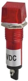 N-XD10-4-R, Лампа неоновая с держателем красная 220VAC