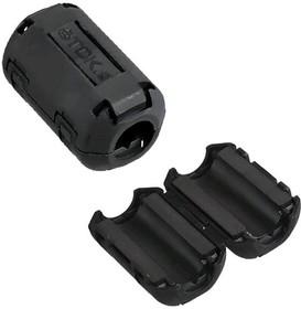 Фото 1/6 ZCAT1730-0730A-BK, d=4...7мм, Фильтр на круглый кабель (черный)