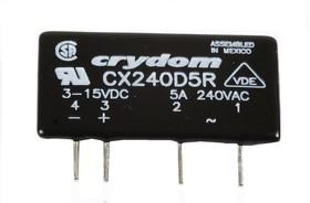 CX240D5R, Реле 3-15VDC, 5A/240VAC (OBSOLETE)