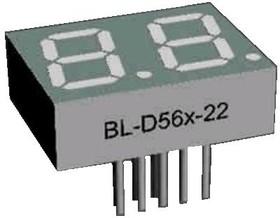 BL-D56A-21UY, Индикатор желтый 25.00х19.00мм 75мКд, общий катод