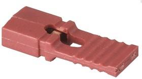 MJC (DS1027-2 LR), Джампер (красный) 2.54х13.7мм 2-контактный закрытый