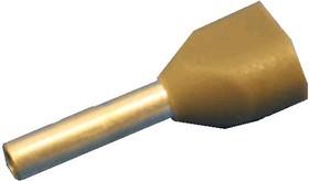 Фото 1/2 CT207508 (TIC2-0.75-8) (KLS8-01141-TE7508 grey), Наконечник 8мм для обжима двух многожильн. кабелей 0.75 мм изолир.