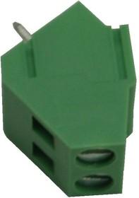 KLS2-104-5.00-02P-4S (EK500A-02P), Клеммник винтовой 2-контактный, 5мм, прямой