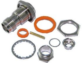 HYR-0203C (GT-203C) (TNC-7419), Разъем TNC, гнездо, RG-6, панель, зажим (Panel clamp)
