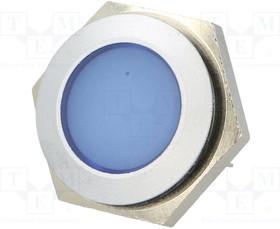 SMFL22414, Индикат.лампа: LED; плоский; 24 28ВDC; Отв: ø22мм; IP67; металл