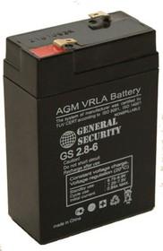 GS 2,8-6, Аккумулятор свинцовый 6В, 2.8А/ч