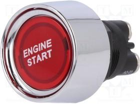 A2-23B-07, Переключатель кнопочный, 1, SPST-NO, 50A/12ВDC, красный