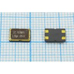 Фото 2/2 кварцевый резонатор 32.768МГц в корпусе SMD 7x5мм, нагрузка 20пФ, 32768 \SMD07050C4\20\ 10\ 30/-40~85C\KC7\1Г