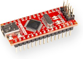Фото 1/3 Бузина, Программируемый контроллер на базе ATmega328P-AU, CP2102 (Arduino Nano)